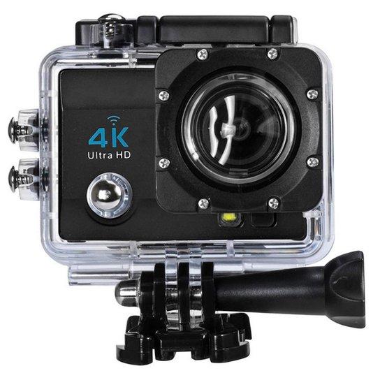 160ce95464 Câmera Sports Wifi Ultra Hd Prova D'Água Resolução 4K Real Led - Preto