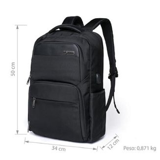 Mochila Notebook Usb Executiva Com Cadeado Swissport