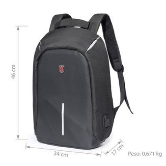 Mochila Swissport Antifurto