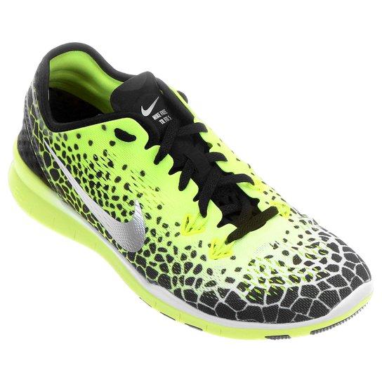 cdc89e3fdec Tênis Nike Free 5.0 TR Fit 5 Feminino - Preto+Verde Limão