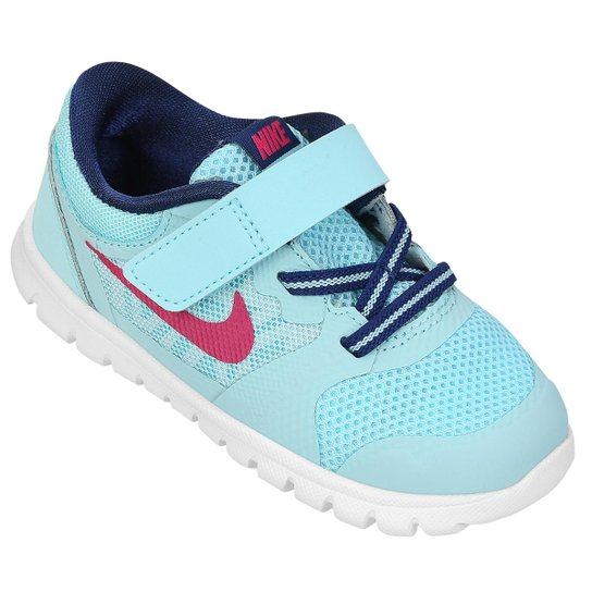 cf7f587f8b4 Tênis Nike Flex 2015 RN Baby - Azul Claro+Azul