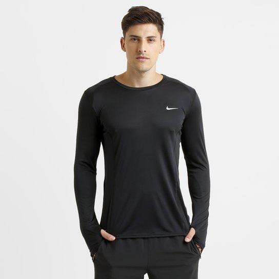 Camiseta Nike Dri-Fit Miler Manga Longa Masculina - Compre Agora ... 51b05dfd6638b