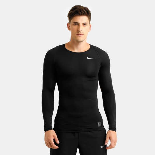Camiseta de Compressão Nike Pro Cool Manga Longa Masculina - Compre ... 0ce457c0d1435