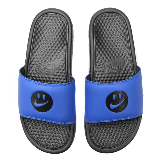 647271bbade63 Chinelo Nike Benassi Jdi Print Masculino - Preto e Azul | Netshoes
