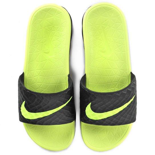 Chinelo Nike Benassi Solarsoft - Verde Claro+Preto. Loading. 0a3cda33c7898