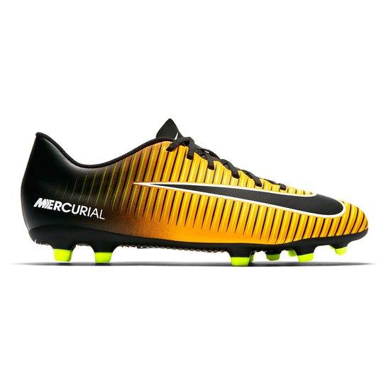 43588243a2 Chuteira Campo Nike Mercurial Vortex 3 FG - Laranja e Preto - Compre ...