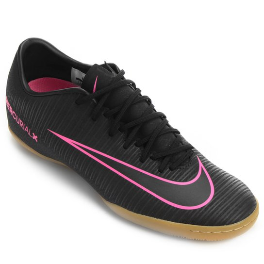 376ec566c3f Chuteira Futsal Nike Mercurial Victory 6 IC - Preto e Rosa - Compre ...