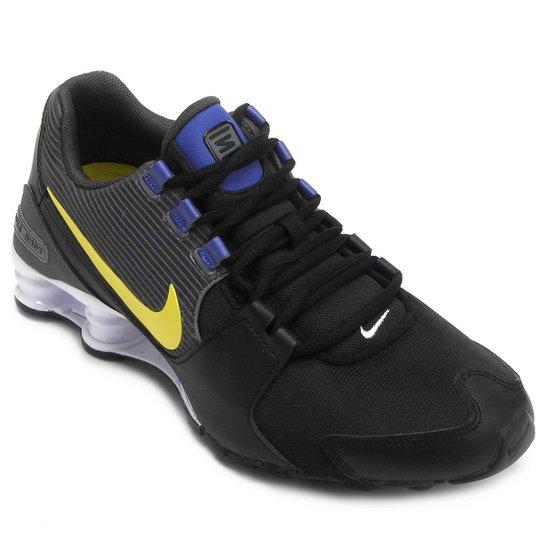 buy popular cf9fe 3f369 Tênis Nike Shox Avenue Masculino - Preto+Azul