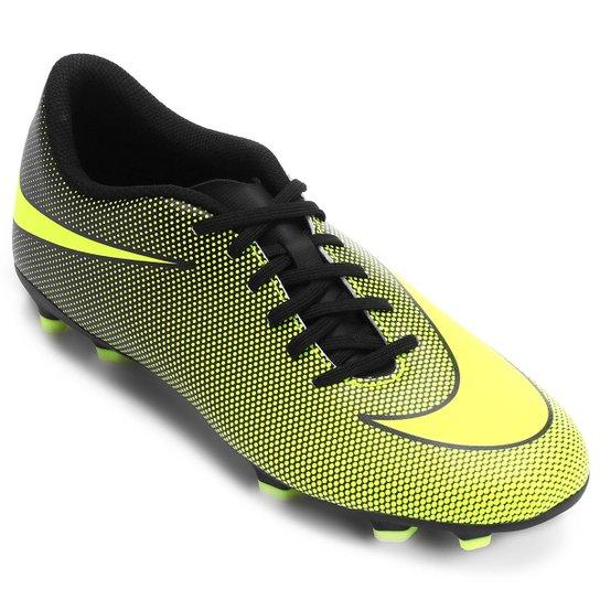 04ae4136a3bff Chuteira Campo Nike Bravata 2 FG - Amarelo e Preto | Netshoes