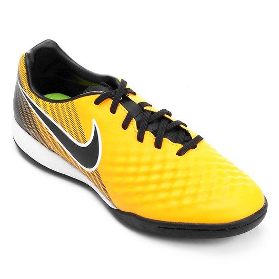 Chuteira Futsal Nike Magista Onda II IC - Laranja e Preto - Compre ... 96090b25307b2