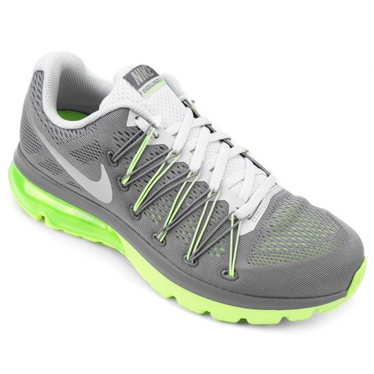 low priced c088d f058a Tênis Nike Air Max Excellerate 5 Masculino - Cinza+Verde Limão