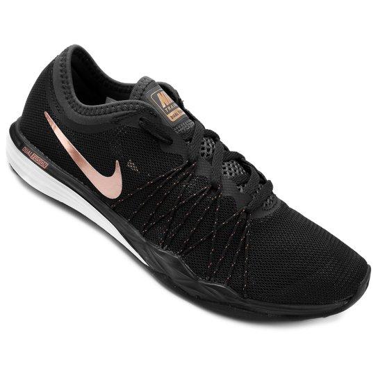 Tênis Nike Dual Fusion TR Hit Feminino - Preto+Rosa ... 2af4483c168fc