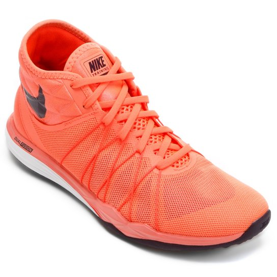 b942c0b768a06 Tênis Nike Dual Fusion TR Hit Feminino - Laranja+Preto