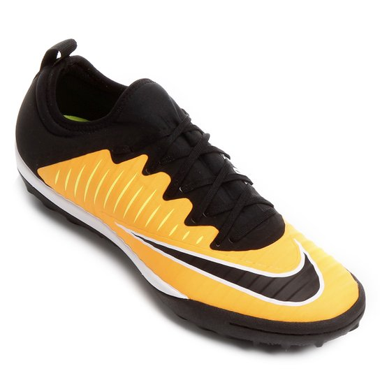 Chuteira Society Nike Mercurial Finale 2 TF - Laranja e Preto ... 41e7f590f7574