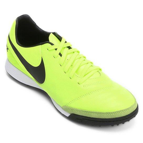 dfc72bebcf Chuteira Society Nike Tiempo Mystic 5 TF - Verde claro