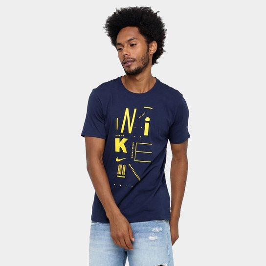 Camiseta Nike SB Tee Cc Poster - Marinho+Amarelo f6722cc10b7