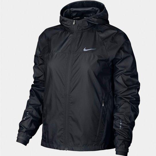 9f36ebb027 Jaqueta Nike Shield Com Capuz Feminina - Preto
