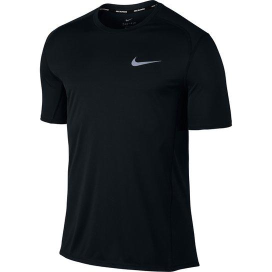 Camiseta Nike Dri-Fit Miler SS Masculina - Preto - Compre Agora ... f91943da14f45