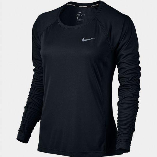 Camiseta Nike Dri-Fit Miler Top Manga Longa Feminina - Compre Agora ... 15366012c626c