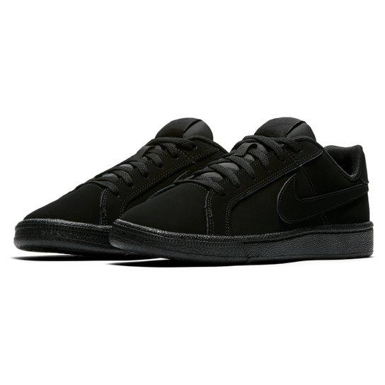 5f9233f9050dc Tênis Infantil Couro Nike Court Royale Masculino - Preto | Netshoes