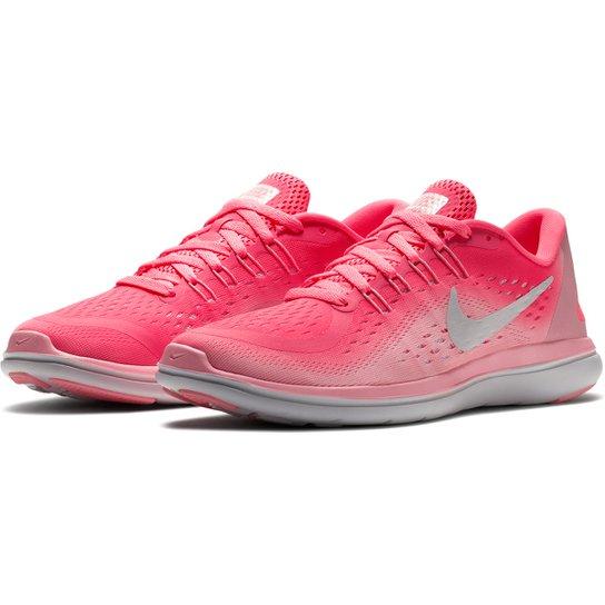 681030ddd Tênis Nike Flex 2017 RN Feminino - Rosa e Branco | Netshoes