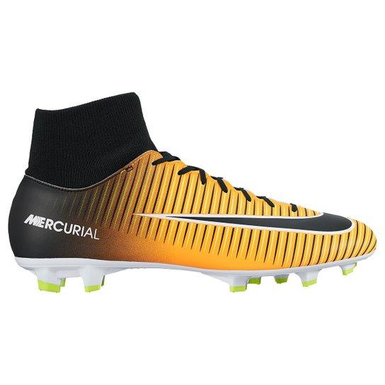 Chuteira Campo Nike Mercurial Victory 6 Dynamic Fit FG Masculina -  Laranja+Preto edd432c42fc0d
