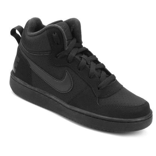 1ed4ade9627 Tênis Infantil Nike Court Borough Mid Masculino - Preto - Compre ...
