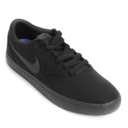 Tênis Nike Wmns Sb Check Solar Cnvs Feminino - Preto - Compre Agora ... 1ccf0de426bce