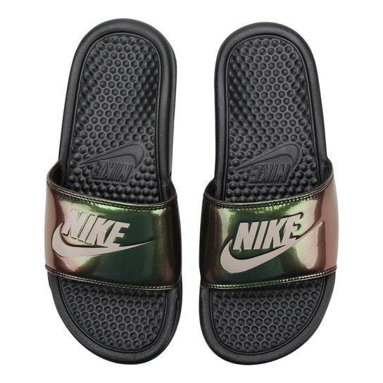 8a85b7874 Sandália Nike Benassi Jdi Print Feminina - Preto | Netshoes