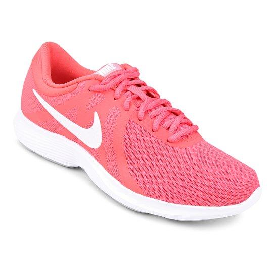 078423131 Tênis Nike Wmns Revolution 4 Feminino - Rosa e Branco - Compre Agora ...