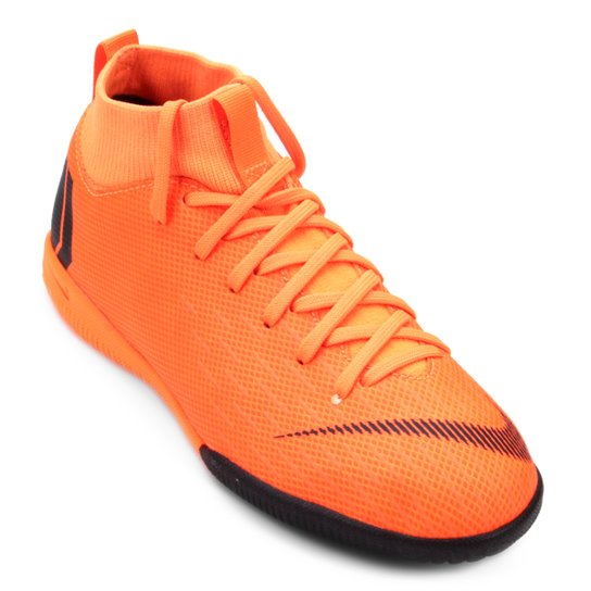 ac66763479 Chuteira Futsal Infantil Nike Mercurial Superfly 6 Academy - Laranja+Preto