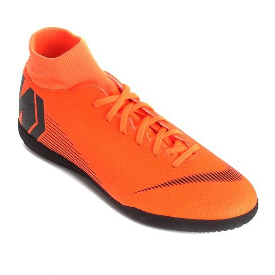 29dceed4e9 Chuteira Futsal Nike Mercurial Superfly 6 Club - Laranja e Preto ...