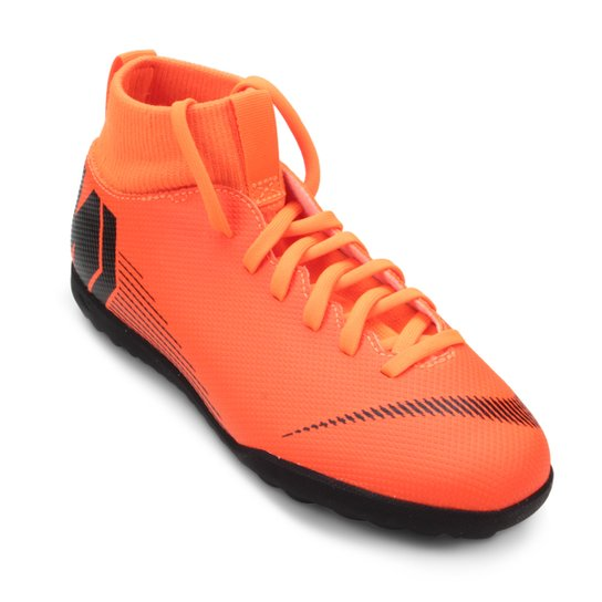 027f36819aba9 Chuteira Society Infantil Nike Mercurial Superfly 6 Club - Laranja+Preto