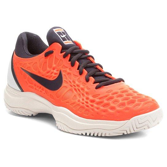 33ffc5e237 Tênis Nike Air Zoom Cage 3HC Masculino - Laranja e Preto - Compre ...
