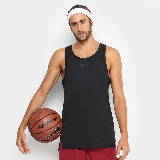 Regata Nike Elite Top Masculina - Preto - Compre Agora  dd751c10779e0