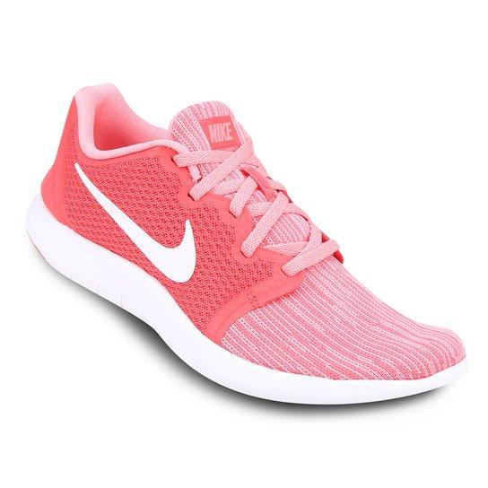 d8f4761ec8 Tênis Nike Flex Contact 2 Feminino - Rosa e Branco - Compre Agora ...