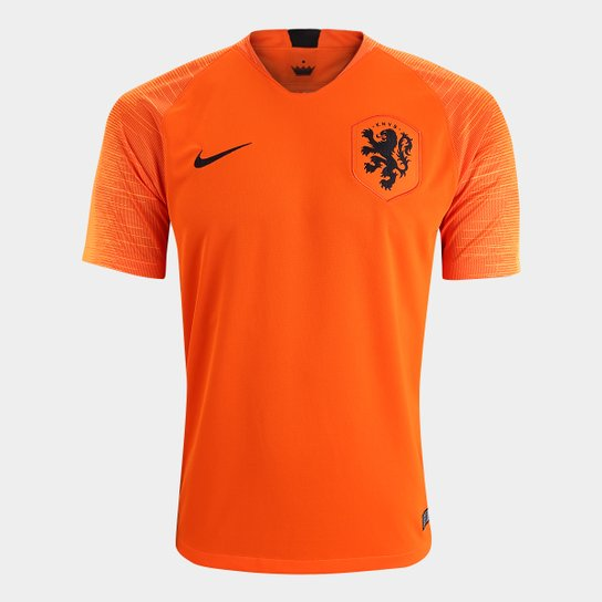 fe70cd20b Camisa Seleção Holanda Home 2018 s n° Torcedor Nike Masculina - Laranja