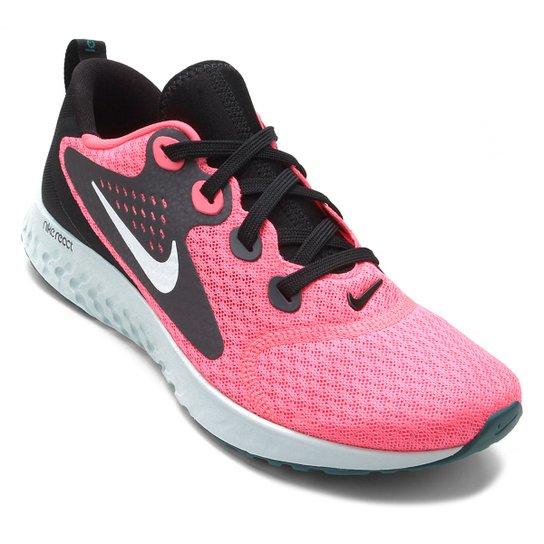 86c14a126 Tênis Nike Legend React Feminino - Rosa e Branco - Compre Agora ...