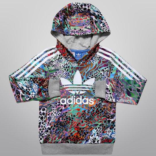 cf8abfc5907 Moletom Adidas J Flwr HFL Top c  Capuz Infantil - Compre Agora ...