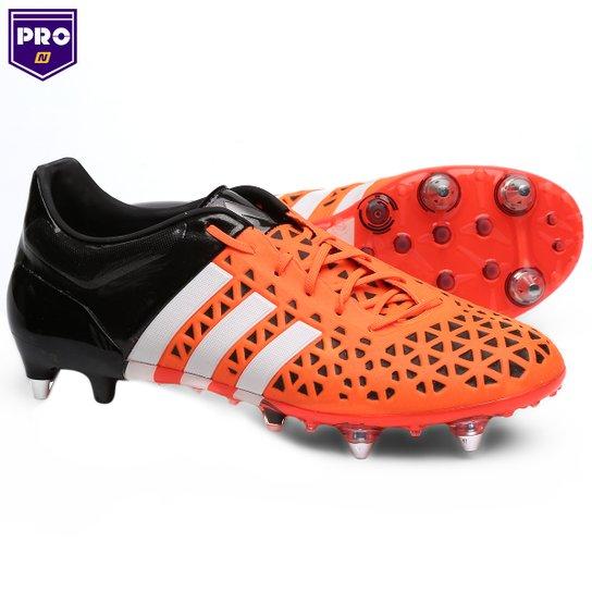 943ef8b995 Chuteira Campo Adidas Ace 15 1 SG Masculina - Laranja+Preto