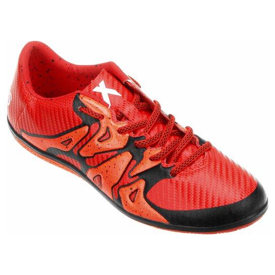 Chuteira Futsal Adidas X 15 3 IN Masculina - Laranja e Preto ... 988c36045c798