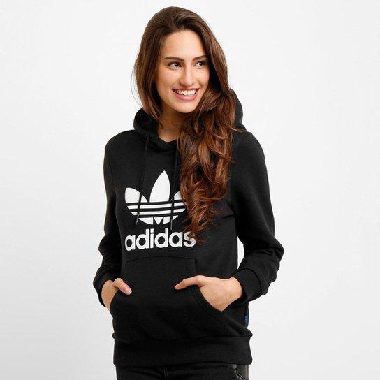 b6d5d0c11 Moletom Adidas Trefoil Logo Hoodie c/ Capuz   Netshoes