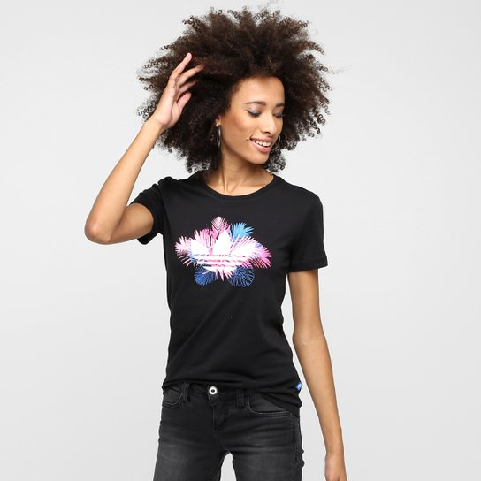 a473f65cfb6 Camiseta Adidas Originals Floral Trefoil - Compre Agora