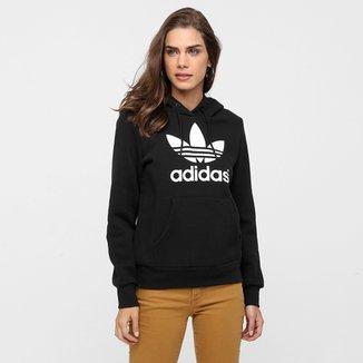 0389ec503e1 Moletom Adidas Originals Trf Logo Hoodie c  Capuz