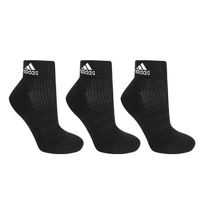 Pacote Meia Adidas Ankle Cushion 3S Cano Médio Com 3 Pares