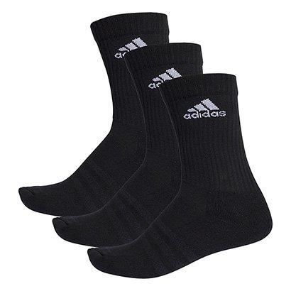 Meia Adidas Cano Alto Cushion 3S Pacote c/ 3 Pares