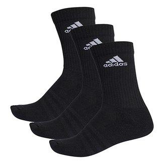 6e3ffb2024a Pacote Meia Adidas Cushion 3S Cano Alto com 3 Pares