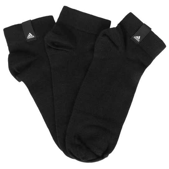 fb04821b785 Pacote Meia Adidas Label Ankle Thin Cano Baixo Com 3 Pares - Compre ...