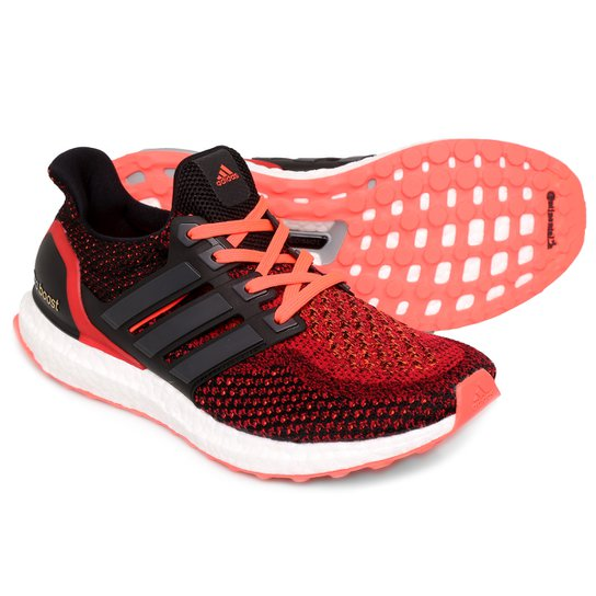 Tênis Adidas Ultra Boost Masculino - Vermelho Claro+Preto f96ae669597a3