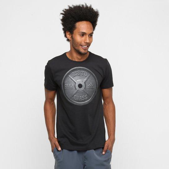 8bd744e410f6e Camiseta Adidas Ass To Grass Masculina - Preto - Compre Agora